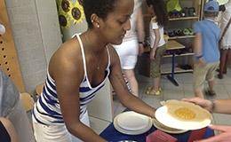 Injeras auf Schulfest