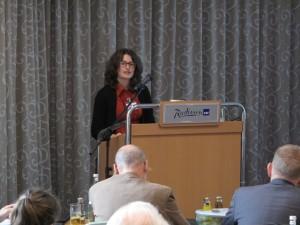 Preisverleihung, Vortrag von Hanna Steinmetz